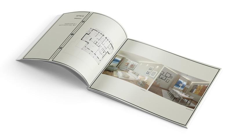 Realizzazione brochure di vendita per agenti immobiliari for Vendita arredamento