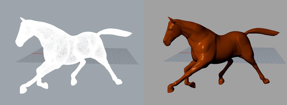 Render4Arch - Modellazione 3D cavallo