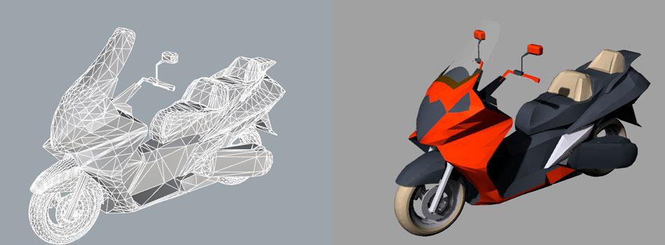Render4Arch - Modellazione 3D motocicletta