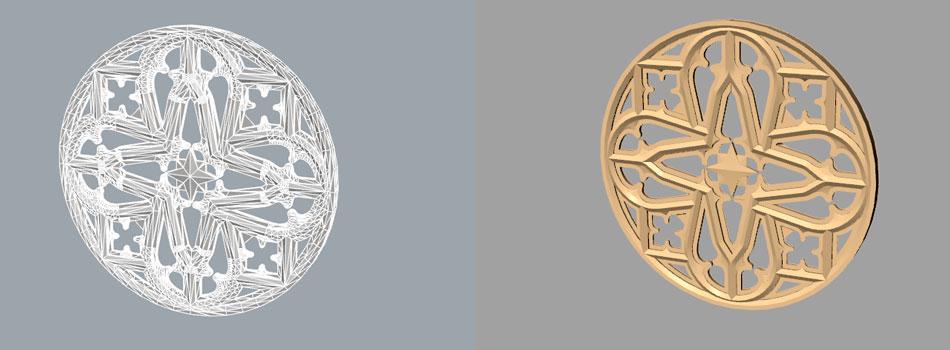 Render4Arch - Modellazione 3D stemma intarsiato