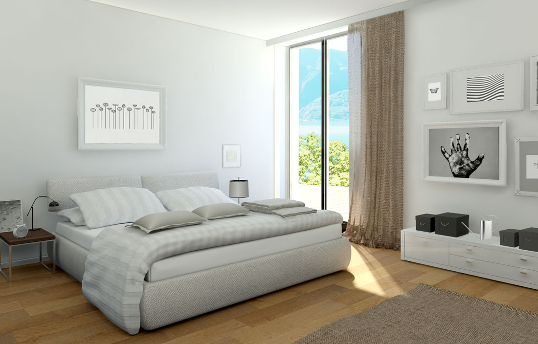 Render4Arch - rendering 3d interni camere da letto