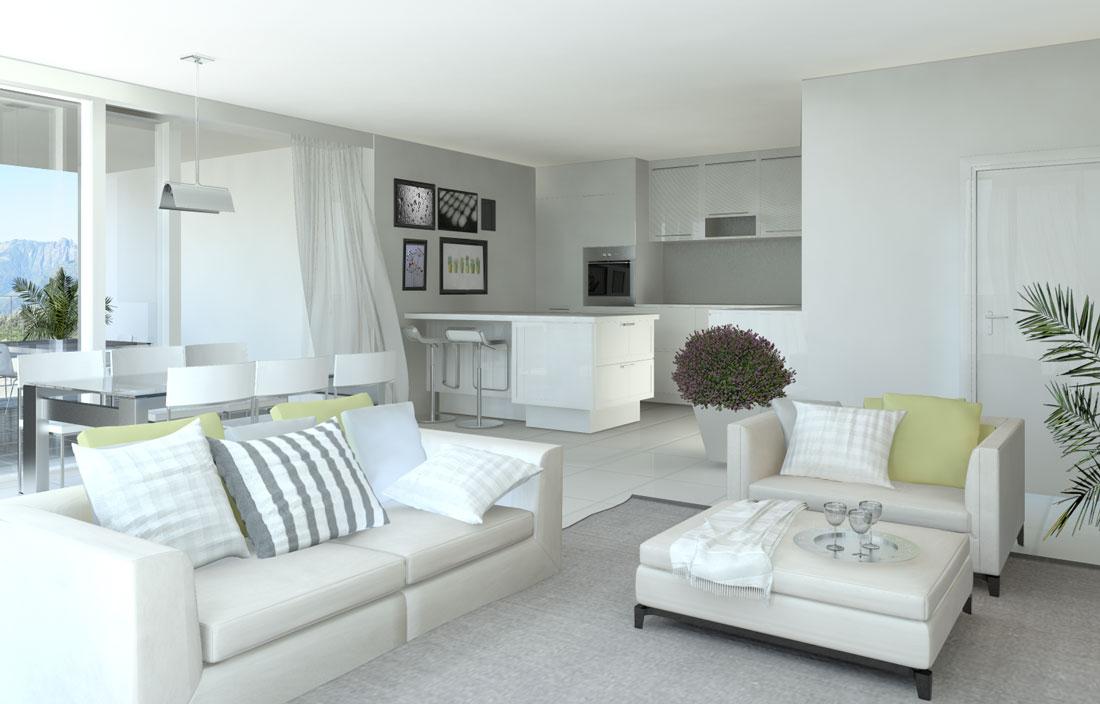 Rendering 3d soggiorni e camere da letto render4arch - Camera soggiorno ...