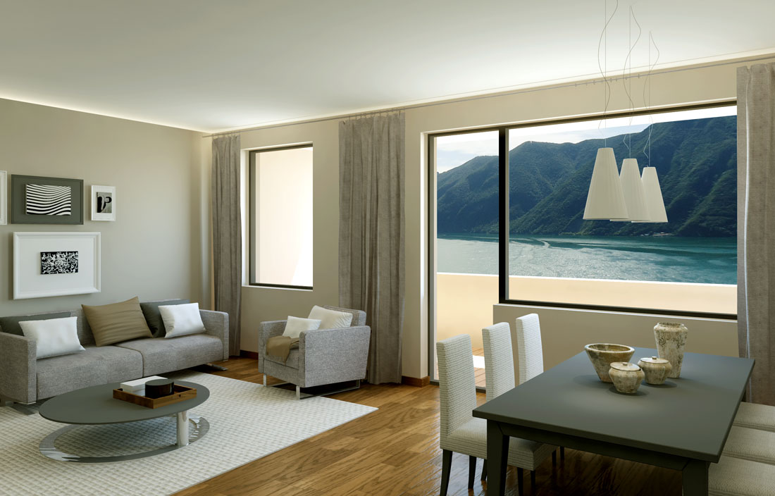 Rendering 3d interior design appartamento lugano render4arch for Interni 3d