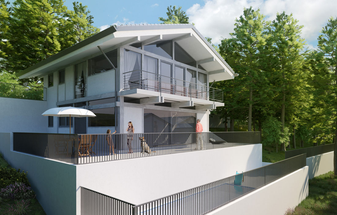 Render4Arch - Rendering FLOCK Haus