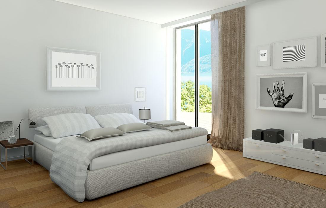 Rendering 3d soggiorni e camere da letto render4arch for Planimetria camera da letto
